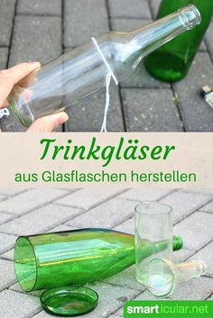 Upcycling: From old bottles and glasses beautiful and useful things simply … - DIY Crafts Easy Diy Crafts, Fun Crafts, Arts And Crafts, Magic Crafts, Summer Crafts, Crafts For Teens To Make, Crafts To Sell, Old Bottles, Glass Bottles