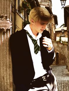 Tom Felton as Draco Malfoy  ** Check out the belt buckle, Slytherin snake....awesome! **