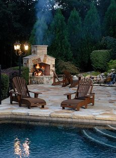 Creative your dream backyard patio and be inspired by these creative outdoor fireplace designs and ideas. Outdoor Stone Fireplaces, Outdoor Fireplace Designs, Backyard Fireplace, Fireplace Outdoor, Fireplace Ideas, Fireplace Stone, Gas Fireplaces, Standing Fireplace, Outside Fireplace