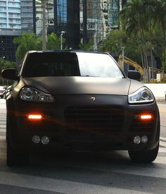 Exotic Cars on the Streets of Miami: Matte Black Porsche Cayenne Turbo with body… Exotic Cars on the Streets of Miami: Matte Black Porsche Cayenne Turbo with body kit / black rims Porche Car, Porsche Suv, Black Porsche, Audi, Porsche Boxster, Cayenne Turbo, Suv Cars, Sport Cars, Black Rims