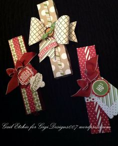 Hershey nugget holdersn for SUDSOL weekly challenge Holiday packaging theme Christmas Favors, 3d Christmas, Christmas Gift Wrapping, Xmas Gifts, Hershey Nugget, Hershey Kisses, Chrismas Cards, Fete Ideas, Diy Food Gifts