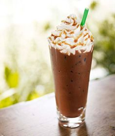 Iced Salted Caramel Mocha Espresso and milk blended with mocha sauce ...