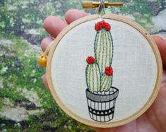 Embroidered Cactus 'Cactus 1' by Cheese by CheeseBeforeBedtime
