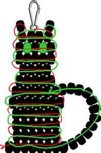 Halloween Key Chain Pattern - Free Beaded Pumpkin Keyring Pattern