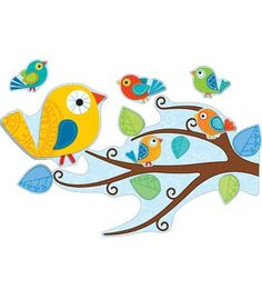 This eye-catching, contemporary design will brighten any classroom! The Boho Birds bulletin board set includes tree limbs, large and small birds, more than 40 leaves, and everything you need to make decorating your classroom a breeze. Look for coordinating products in this design to create an exciting classroom theme your students will love!