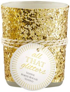 Kate Aspen 'All That Glitters' Gold Votive/Tealight Holder *** Want to know more, click on the image. (This is an affiliate link and I receive a commission for the sales)