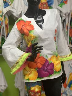 Hibiscus, African Fashion, Infant, Tropical, Ruffle Blouse, Womens Fashion, Prints, T Shirt, Ideas