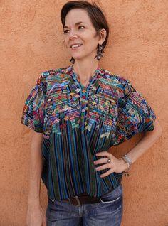 Handwoven Maya Vintage Shaman Huipil from Nahuala, Guatemala Guatemalan Textiles, Cultural Identity, Indigo Dye, Kind Words, Blue Stripes, Maya, Hand Weaving, Men Casual, Trending Outfits