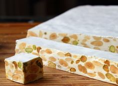 Learn how to make a Torrone recipe! Go to http://foodwishes.blogspot.com/2016/02/torrone-italian-nut-nougat-confection.html for the ingredient amounts, more ...