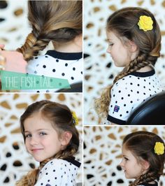 Learn this classically fashionable fishtail. | 17 Cute And Easy Hairstyles For Kids
