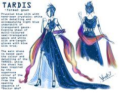 Ladylawga @ tumblr TARDIS dress | Moon Prism Power, Make Up ...