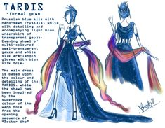 Tardis Dress; TARDIS: Formal Gown by ~Sno-Oki on deviantART