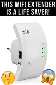 Wi-Fi Extender (WiFi router) Very easy to install👶 WiFi range extender🤙 Compatible With All WiFi Routers 👌 Never lose W Gadgets And Gizmos, Tech Gadgets, Cool Gadgets, Wi Fi, Router Wifi, Wifi Extender, Camping Gifts, Practical Gifts, Cool Tech