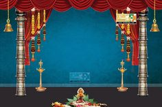 stage backdrop ideas for vinayaka chaturthi and durga navaratri festival,indian .
