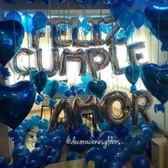 Happy Birthday, Birthday Ideas, Ideas Para, Diy And Crafts, Balloons, Birthdays, Flower Girls, My Love, Gifts
