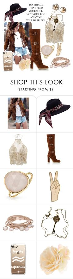 """""""Aquarius Soul"""" by mansleberry ❤ liked on Polyvore featuring Gianvito Rossi, Bling Jewelry, Lucky Brand, Marjana von Berlepsch, Tiffany & Co., Casetify, Accessorize and Demner"""