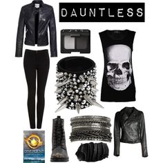 Dauntless.... This one is sorta weird, but definitely fits.