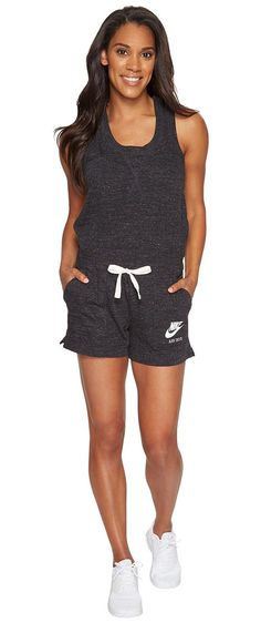 Nike Sportswear Vintage Romper (Black/Sail) Women's Jumpsuit & Rompers One Piece - Nike, Sportswear Vintage Romper, 905160-010, Apparel One Piece Jumpsuit & Rompers, Jumpsuit & Rompers, One Piece, Apparel, Clothes Clothing, Gift - Outfit Ideas And Street Style 2017