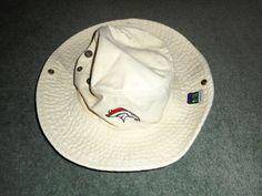 Men's Khaki DENVER BRONCOS NFL REEBOK Boonie Pull Chord Hat, Size S/M, GUC! #REEBOKNFLONFIELD #DenverBroncos