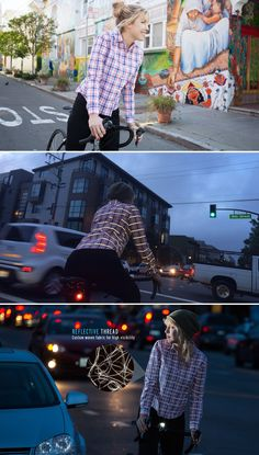 Betabrand's Women's Plaid Reflective Bike Button-Up Shirt: an amazing commuter-friendly button-up shirt that looks great in and out of the saddle.