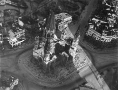 Kaiser Wilhelm Memorial Church, badly damaged during an air raid on Nov. 23,...