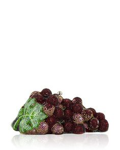 Grape+Cluster+Crystal+Clutch+Bag,+Silver/Crimson+by+Judith+Leiber+Couture+at+Neiman+Marcus.