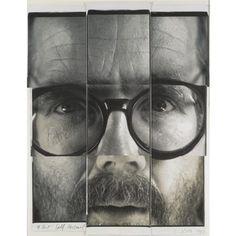 Chuck Close (B. 1940)  '9-Part Self Portrait'. photo Sotheby's