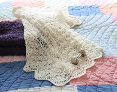 Gorgeous Life Cycle Baby Blanket from Laura Nelkin.