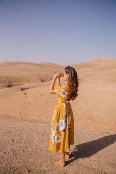 Desert yellow and orange spring dress | Girlfriend is Better