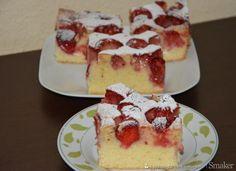 Placek ucierany z truskawkami Polish Recipes, Polish Food, Cheesecake, Food And Drink, Cheesecake Cake, Cheesecakes, Cheesecake Bars, Cherry Cheesecake Shooters, Cheesecake Pie