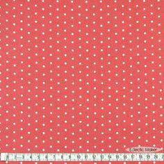 dusky rose pink polka dots