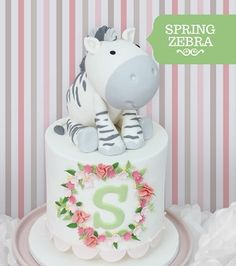 Spring Zebra cake - from Sharon Wee Creations: Adorable Cakes For All Occasions book