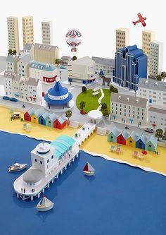 Hattie Newman's Amazing Paper Cities