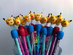 ALQUIMIAS: Lápis com Ponteiras Pikachu