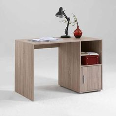 Orga 1 Canadian #Oak Finish #Computer #Desk is perfect to place in offices which comes with 1 #Door and open compartment which is ideal for both home and workplace.