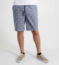 Retrofit Swan Floatie Print Shorts with Elastic Waist for Men in Blue BYR7-2712S-B512