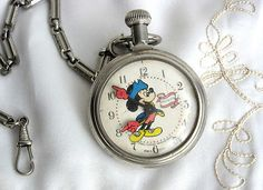 Mickey Mouse Bicentennial pocket watch from 1976 ~ $125