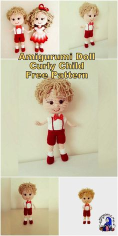 In this article I will share a wonderful amigurumi doll pattern again. You can enjoy this beautiful amigurumi doll with curly child free english pattern. Doll Amigurumi Free Pattern, Crochet Dolls Free Patterns, Crochet Doll Pattern, Amigurumi Toys, Crochet Toys, Free Crochet, Doll Toys, Crafts, Children