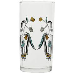 deco floral glass