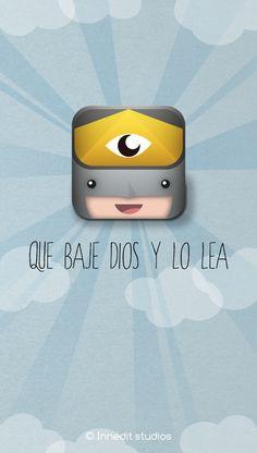 Que baje Dios y lo lea - APP icon by Alfonso , via Behance #app #ui #icon
