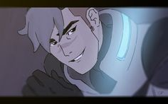 """""""Shiro loves you, baby."""" THIS IS FROM THE TUMBLR OF SOMEONE WHO WORKS ON VOLTRON AND THE HASHTAG IS #HE'S LOOKING AT KEITH! :)"""