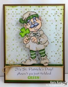 Giant Leprechaun (SKU#M1608) from Art Impressions St. Patrick's Day card.