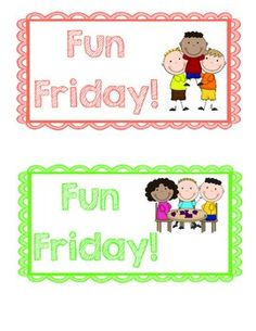 This is a packet of 22 fun Friday activities. They are printed on cards that you can print out and hang up. There are labels that you can print off to attach to clips. You clip the clips next to the choices and then the students can take the clip of the fun Friday activity they want to participate in.