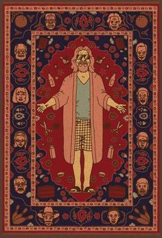 """That rug really ties the room together, does it not?"" -The Dude (The Big Lebowski) ""That rug really ties the room together, does it not?"" -The Dude (The Big Lebowski) Big Lebowski Rug, O Grande Lebowski, Big Lebowski Poster, Dudeism, Pop Art, Movies And Series, Alternative Movie Posters, Movie Poster Art, Jolie Photo"