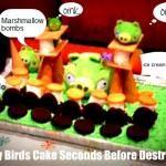 angry pig cake