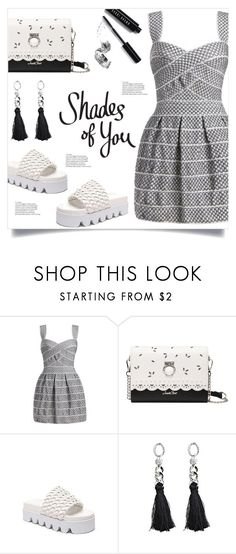 """""""Shades Of You"""" by mahafromkailash ❤ liked on Polyvore featuring Bobbi Brown Cosmetics, blackandwhite, platform, minidress, Dressunder50 and dressunder100"""