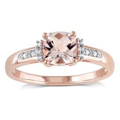 0f2c787a98fd Shop for Miadora 10k Rose Gold Morganite with Diamond Accent Engagement Ring.  Get free delivery