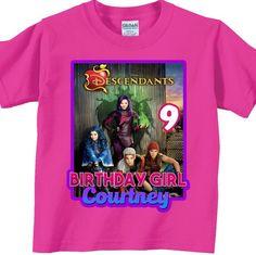 Descendants Birthday Shirt - Personalized, Custom