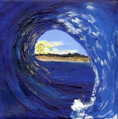 Original Acrylic  Painting Wave Rip Curl by DecadentAndFabulous, £30.00