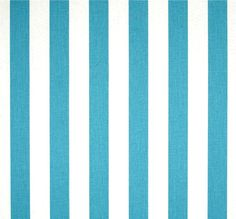Turquoise Blue Stripe Indoor Outdoor Fabric by the Yard Designer Tropical Coastal Outdoor Geometric Fabric Turquoise Blue Outdoor S145